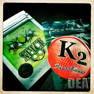 Synthetic marijuana is sold as K2 and Spice.