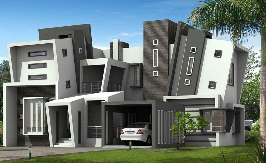 menentukan cat eksterior rumah modern populer
