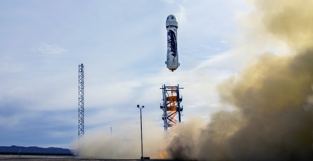 Blue Origin flies and lands the world's first fully reusable rocket from its launch site in West Texas. Credit: Blue Origin