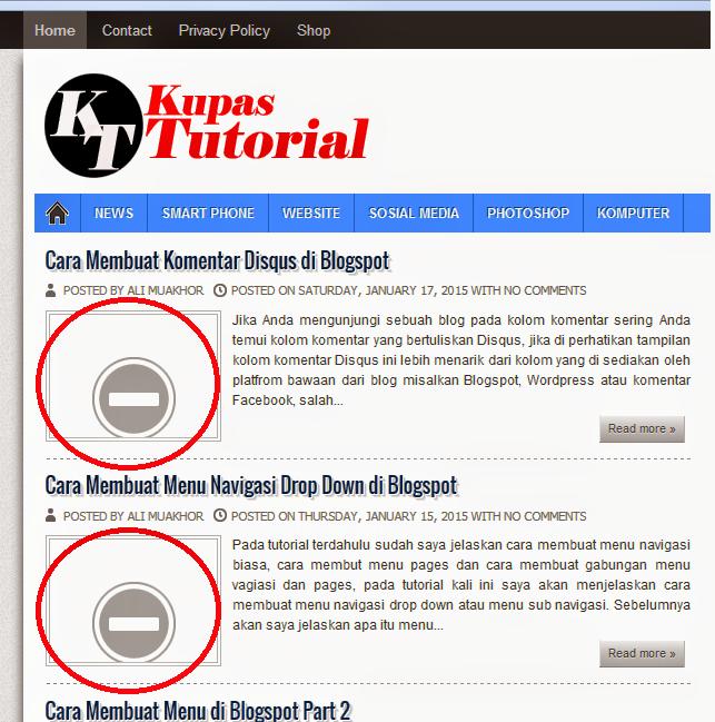 Mengembalikan Postingan Gambar Yang Hilang di Blogspot