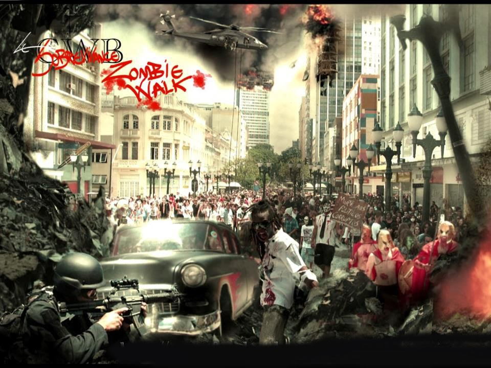 Como ficaria Curitiba se fosse atacada por Zombies