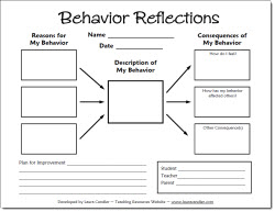 photo of Behavior Reflections Form