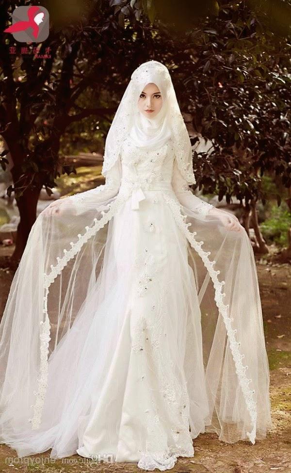 foto gaun pernikahan muslimah