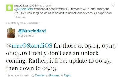 Musclenerd zum Unlock des iPhone 3GS