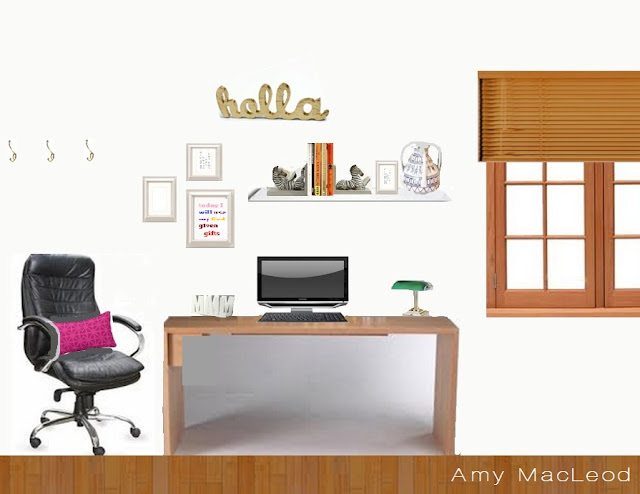 Office moodboard design by Amy MacLeod www.fivekindsofhappy.com
