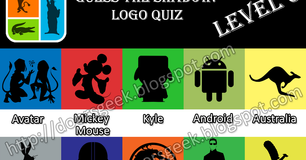 guess the shadow logo quiz level 3 stage 1 to 25