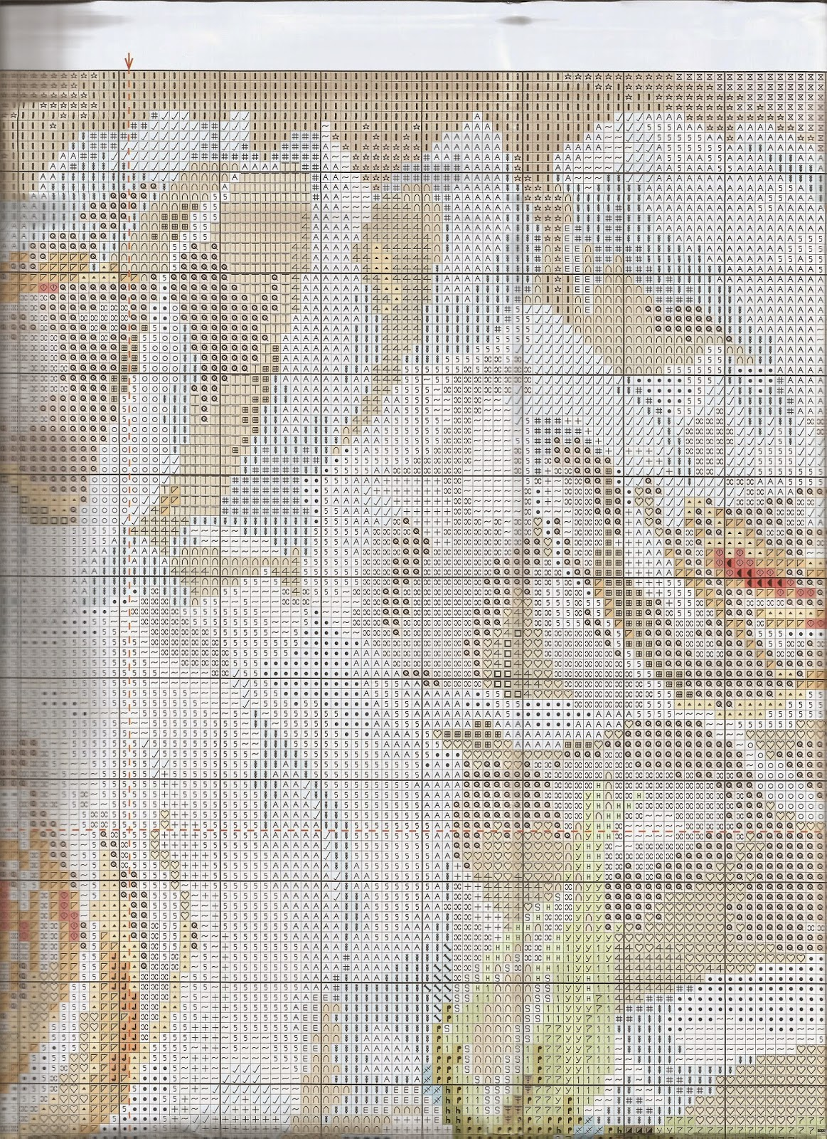 Схема вышивки алиса белые розы 43