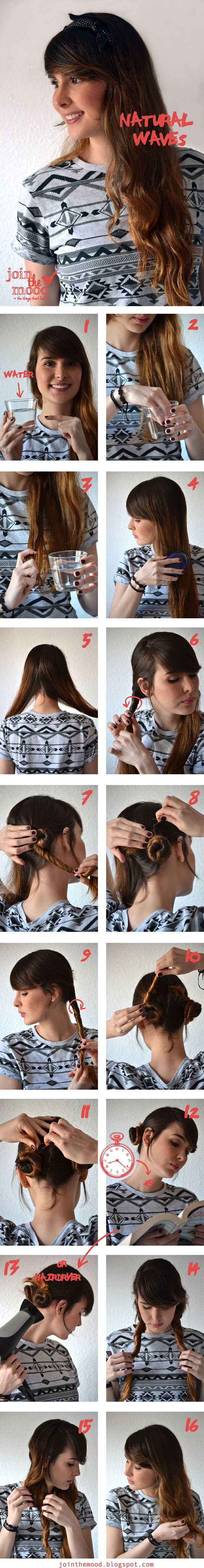 Make a Natural Waves For Your Hair