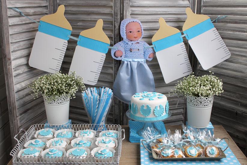 Consaboravintage mesa dulce baby shower para diego for Mesa dulce para baby shower