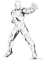 Mewarnai Gambar Iron Man 3