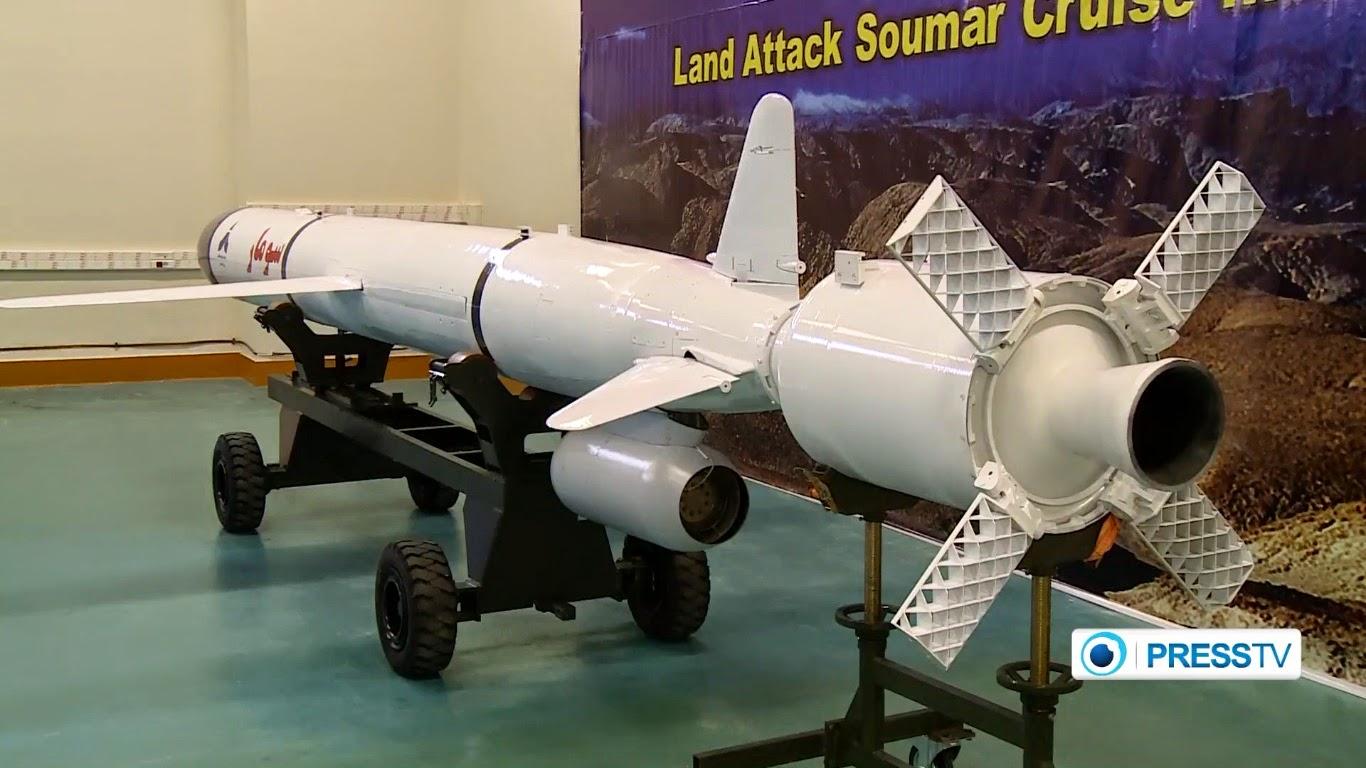 Novo míssil de cruzeiro 'Soumar' do Irã poderá atacar alvos a cerca de 2000 km