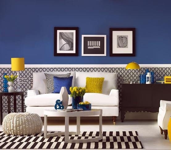 Decoracin De Salas De Color Azul Cmo Arreglar Los