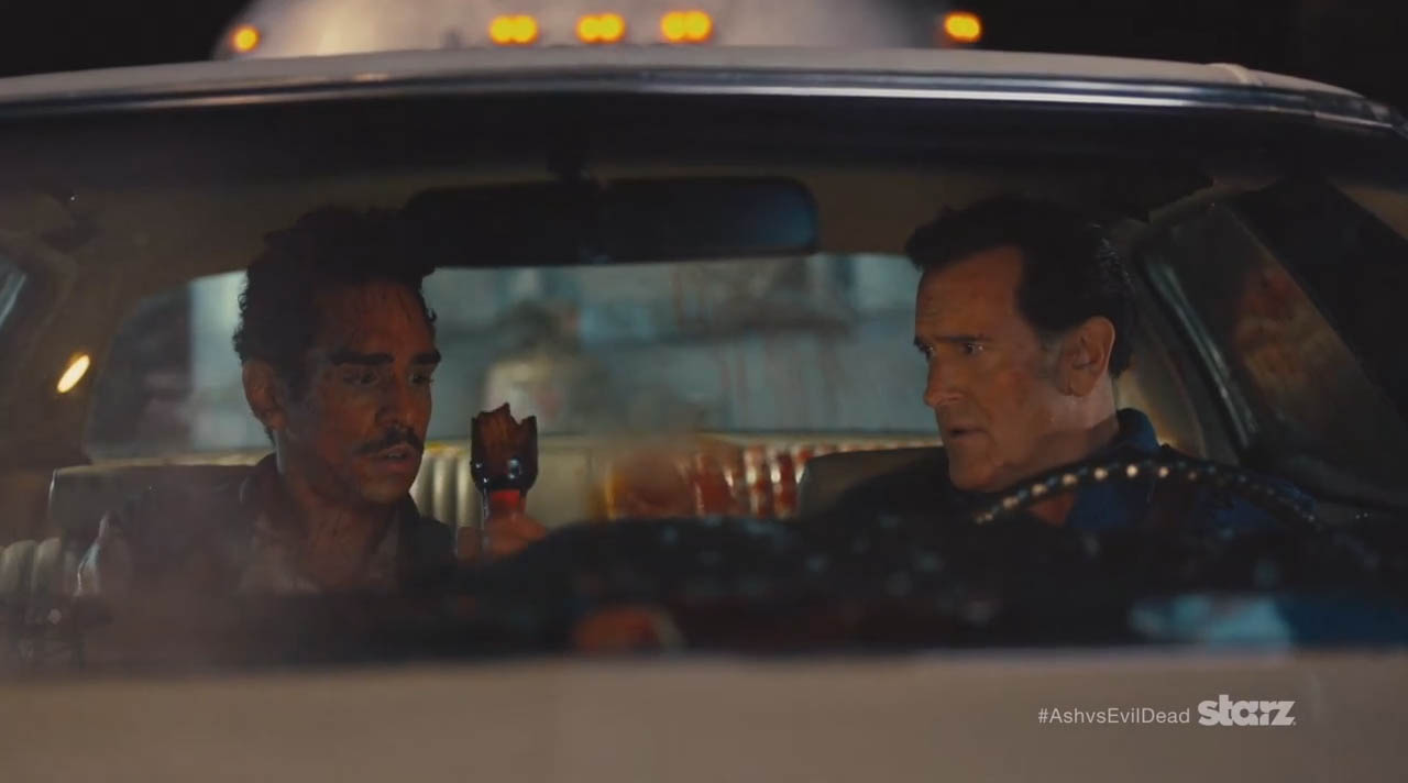 Ash vs Evil Dead brings humor back to the horror genre with the Starz network horror sitcom premiering on October 31, 2015 in Starz Network Ash and Pablo