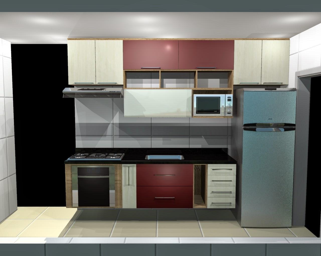 Móveis da Praça: Cozinhas planejadas para Apartamentos Pequenos #6B403C 1280 1024