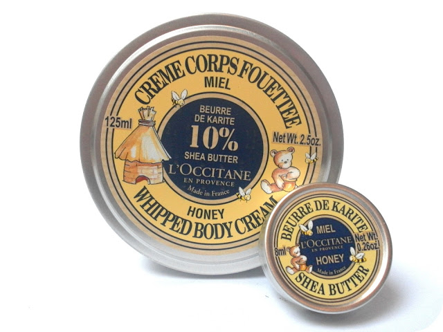 L'Occitane Honey Whipped Body Cream and L'Occitane Honey Lip Balm