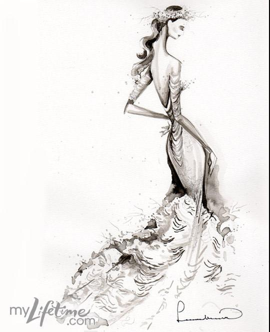 wedding dress sketch stock photos vectors and illustrations from