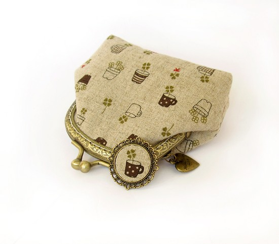 Tekstilnaya brosh i koshelek | Текстильная брошь и кошелек