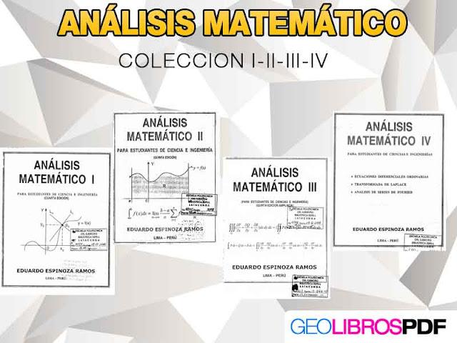 analisis matematico coleccion Volumen I II III IV