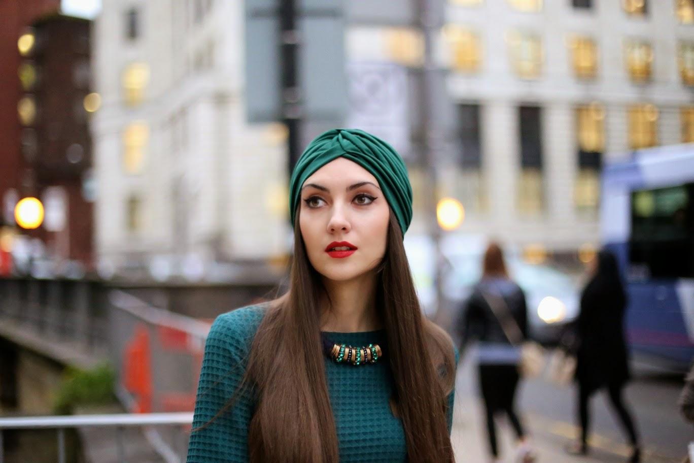 альтернатива шапки зимой, как носить тюрбан, шляпа на зиму 2014