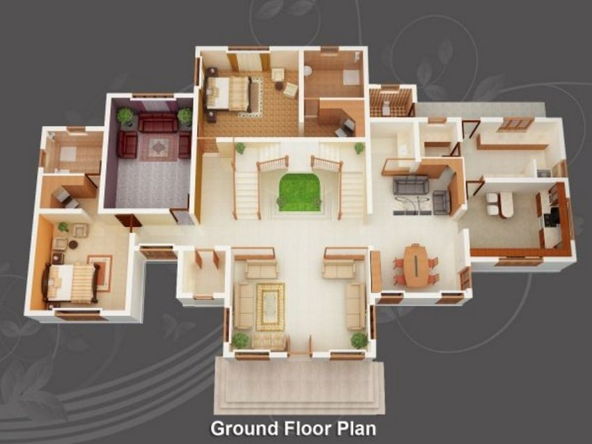 3D House Cool Of Interior Plan Houses 2