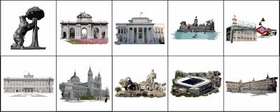 Diseños de las servilletas Renova Madrid, solidaridad