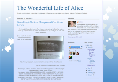 My Life All In One Place Filofax Blog Of The Week The Wonderful Life Of Alice