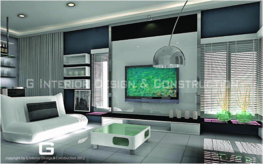 3d drawing aman perdana klang project semi d for Tv panel design for hall