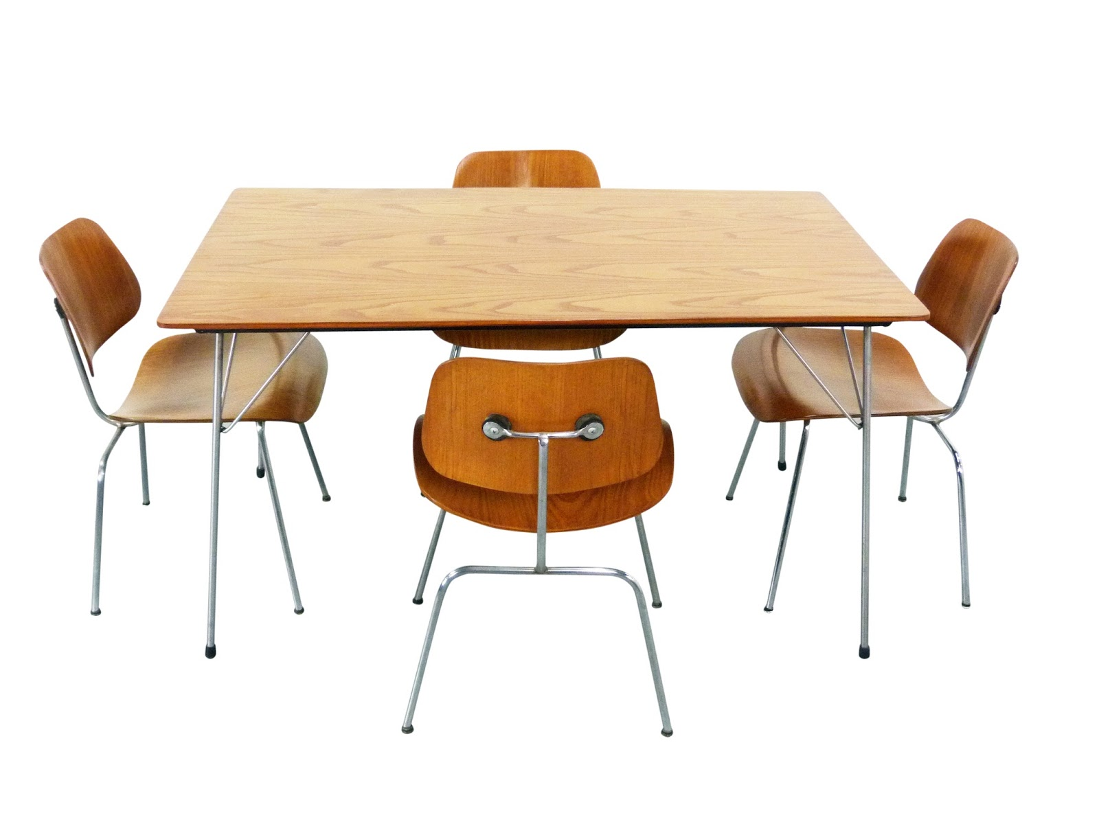 Just In 5 28 15 | Ray U0026 Charles Eames For Evans Product Co DCM Plywood  Chairs And DTM Table | Rare Mid Century Modern Pre Herman Miller