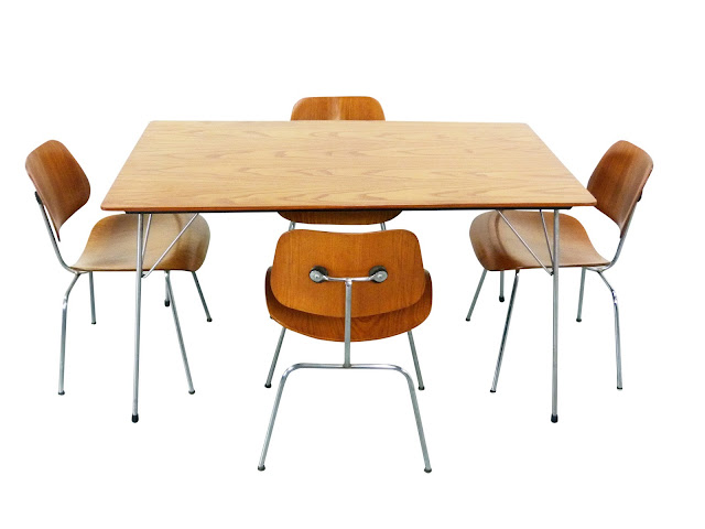 Ray Charles Eames DCM Chairs DTM Plywood Table Evans Products Company