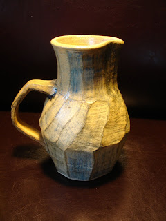 D Lo Pottery Pitcher Horsley Clay Oxidation Fired