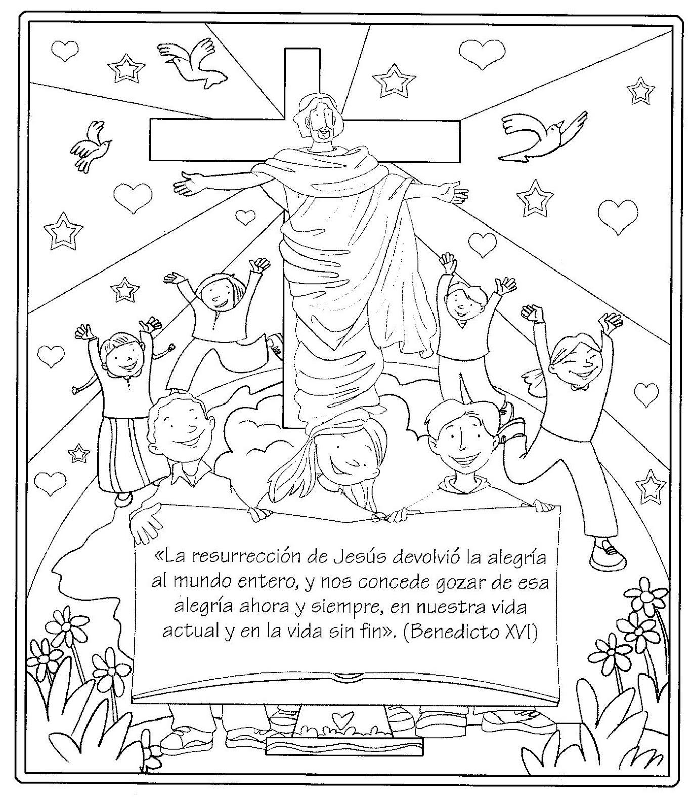 ficha infantil semana santa: