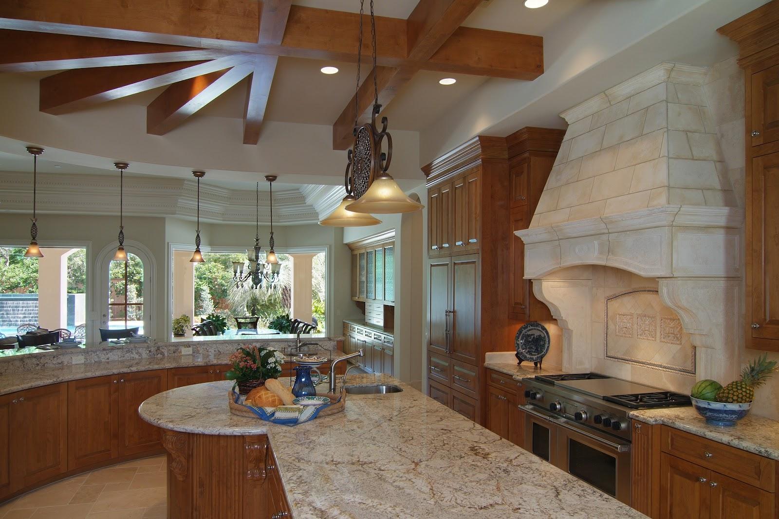 Отделка кухни в частном доме: подходящий дизайн и материалы 58