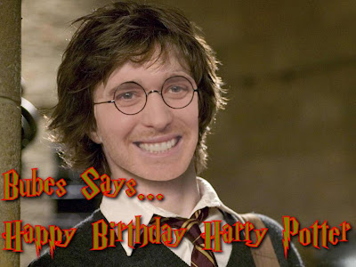 Bubes Says - Happy Birthday Harry Potter