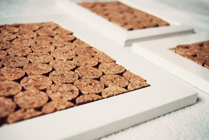 rotkehlchen diy framed cork i love this material. Black Bedroom Furniture Sets. Home Design Ideas