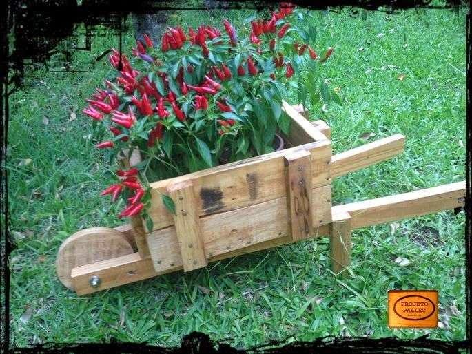 quizs ya hayis visto esta idea en algunas tiendas de jardinera consiste en utilizar la tpica carretilla para transportar tierras en una jardinera
