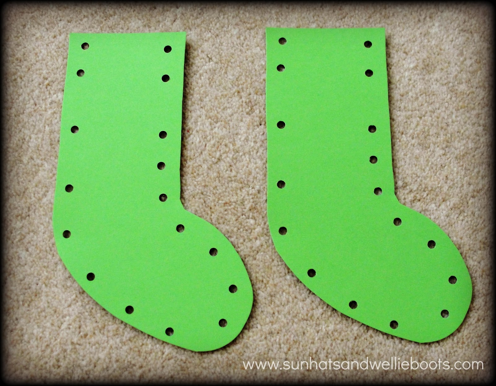 sun hats u0026 wellie boots christmas stockings threading decorations