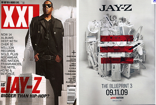 T2 10 music video 2012 jay z magazine advert this is the advert for jay zs album the blueprint 3 it is advertised in xxl which is a popular hip hop magazine he is there front and back cover malvernweather Images