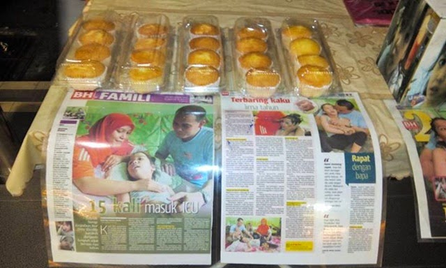 Kasih Seorang Bapa! Jual Muffin Bayar Kos Rawatan Anak