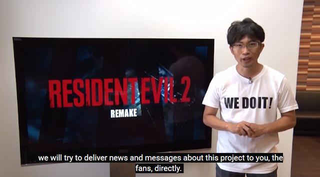 Yoshiaki Hirabyashi H Resident Evil 2 Biohazard remake directly