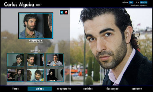 ver web del actor Carlos Algaba