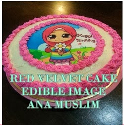RED VELVET CAKE WITH EDIBLE IMAGE