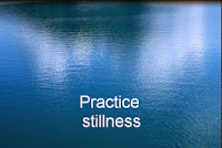 Intention #13 - Practice Stillness to Find More Peace - picture of still lake
