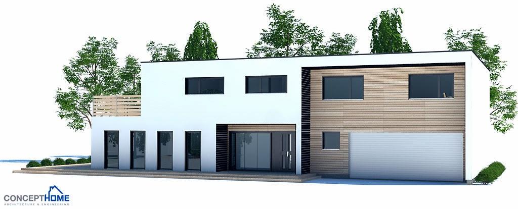 Proyectos de casas modernas proyecto de casa moderna ch202 for Proyectos de casas