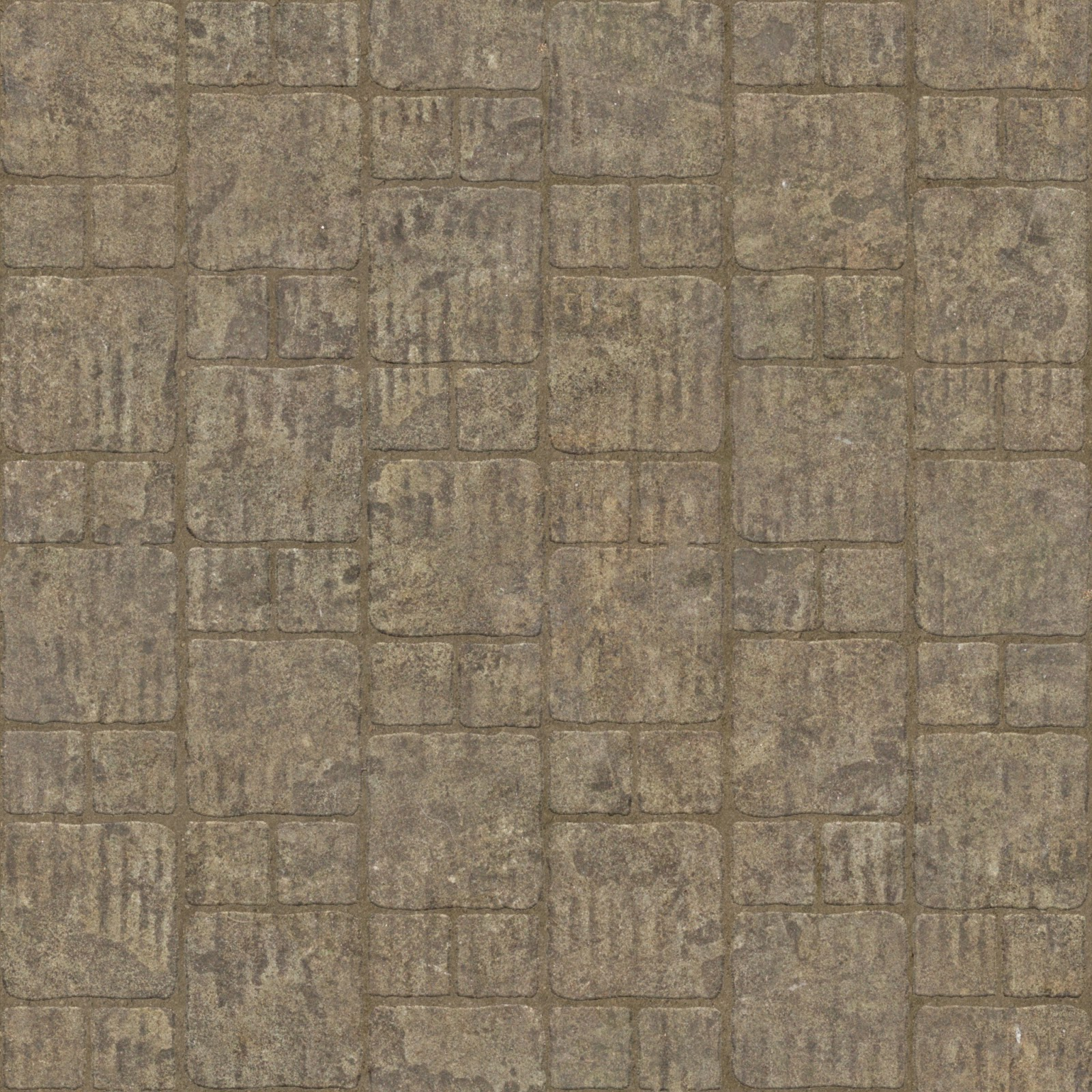 Brick stone floor tiles seamless texture 2048x2048