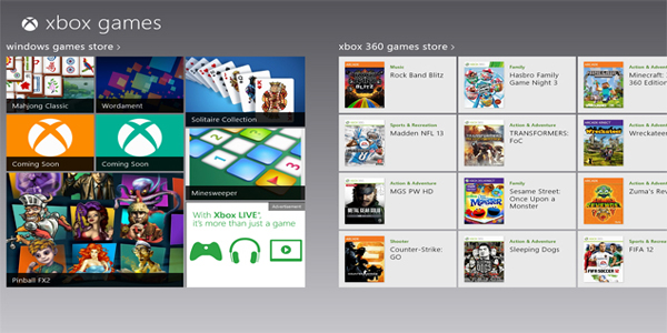 Windows 8 XBOX Games Are Now On Your Touch