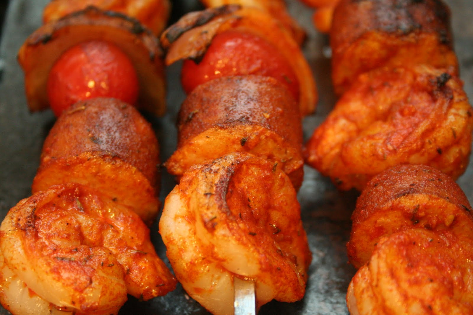 Cooking Claire: Grilled Shrimp and Sausage Skewers with ...