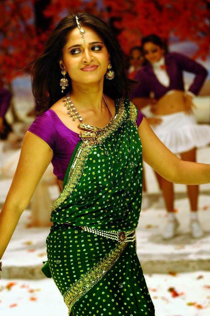Anushka Shetty Hot Green Saree   Anushka Shetty HD Stills   All About ... Naayak