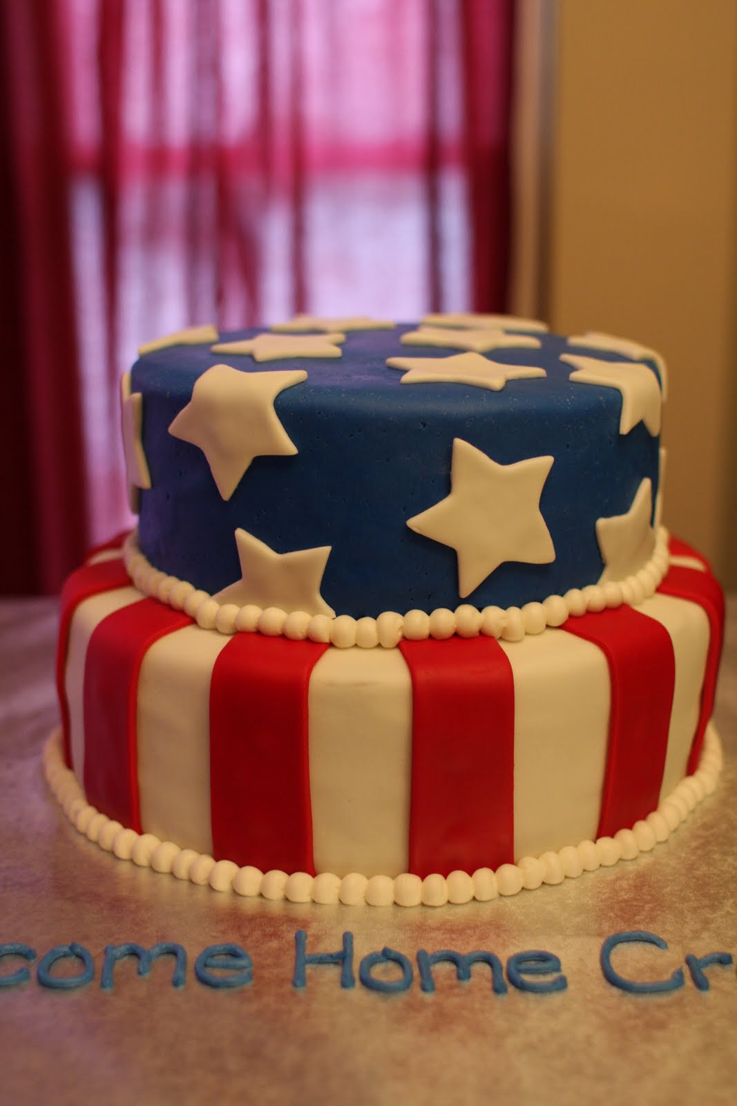 the buttercream bakery welcome home stars stripes cake