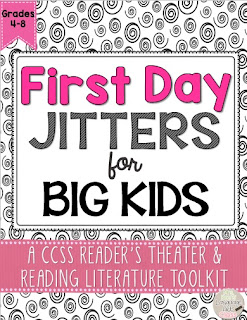 https://www.teacherspayteachers.com/Product/First-Day-Jitters-Readers-Theater-and-Reading-Literature-Toolkit-for-Grades-4-8-1916518
