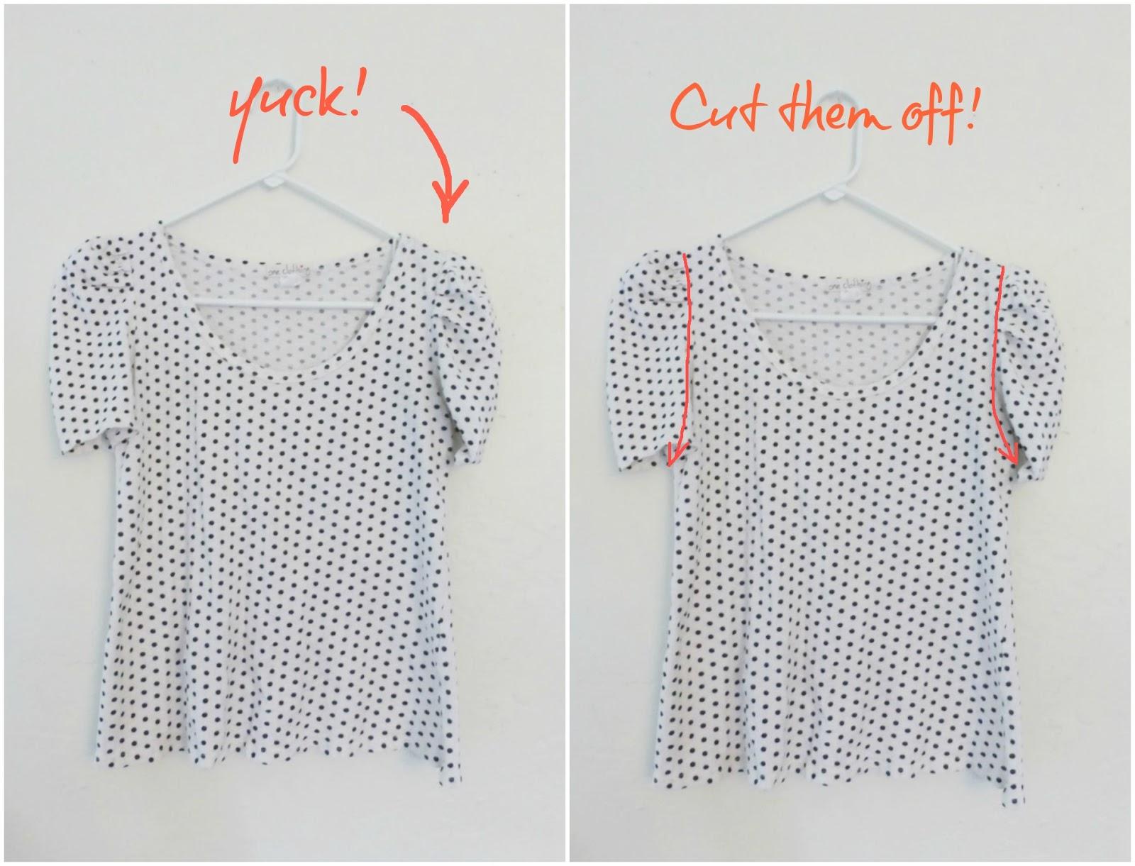 no sew t-shirt refashion